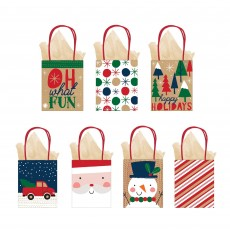 Christmas Oh What Fun Small Vertical Gift Favour Bags