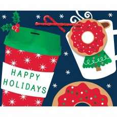 Christmas Coffee & Donuts Small Horizontal Favour Bag