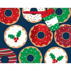 Christmas Donuts & Holly Gift Tags & Medium Horizontal Favour Bag