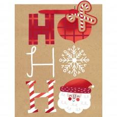 Christmas Party Supplies - Favour Bag Med Gift Bag & Gift Tag Ho Ho Ho