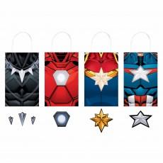 Avengers Party Supplies - Favour Bags Marvel Powers Unite Kraft Paper