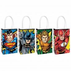 Justice League Party Supplies - Favour Bags Heroes Unite Kraft Paper