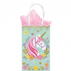 Magical Unicorn Glitter Small Treat Favour Bags Pack of 10
