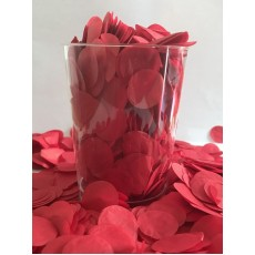 Red 2cm Tissue Circles Confetti