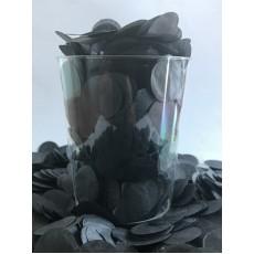 Black Tissue Circles Confetti 2cm