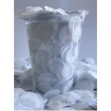 White 2cm Tissue Circles Confetti
