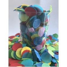 Multi Colour ed 2cm Tissue Circles Paper Confetti