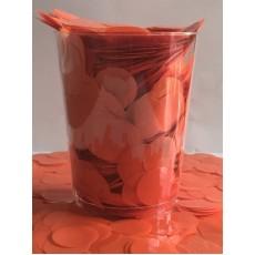 Orange Metallic Circles Confetti