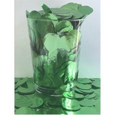 Green Metallic 2cm Tissue Circles Confetti