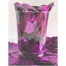 Purple 2cm Metallic Circles Confetti