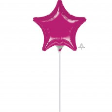 Magenta Fuchsia  Foil Balloon
