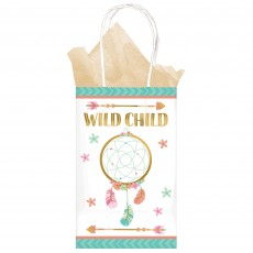Boho Girl Printer Paper Kraft Favour Bags