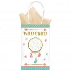 Boho Girl Printer Paper Kraft Wild Child Favour Bags Pack of 8