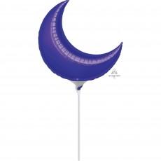 Crescent Purple Mini Shaped Balloon 43cm
