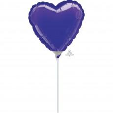 Heart Purple Shaped Balloon 10cm