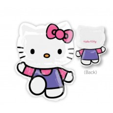 Hello Kitty Pink & Purple SuperShape XL Shaped Balloon