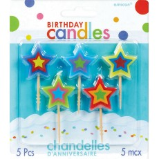 Happy Birthday Star Pick Candles