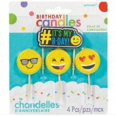 Emoji Smiley Faces Candles