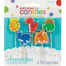 Dinosaur Assorted Colours  Candles