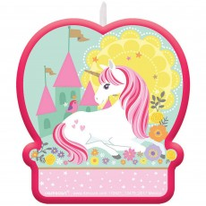 Magical Unicorn Birthday Candle
