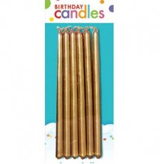 Gold Mini Taper Candles 13cm Pack of 12