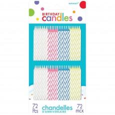 Stripes Spiral Candles