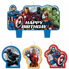 Avengers Party Supplies - Candles Marvel Powers Unite Mini Moulded