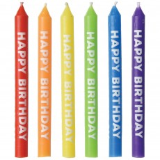 Happy Birthday Party Supplies - Candles Rainbow