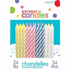 Stripes Candles Pack of 24