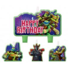 Teenage Mutant Ninja Turtles Mini Moulded Candles Pack of 4