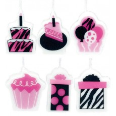 Happy Birthday Fever Mini Moulded Candles