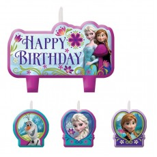 Disney Frozen Mini Moulded Candles Pack of 4