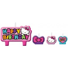 Hello Kitty Rainbow Mini Moulded Candles Pack of 4