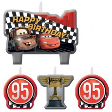 Disney Cars Formula Racer Mini Moulded Candles