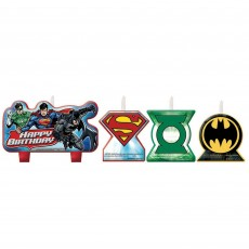 Justice League Mini Moulded Candles Pack of 4