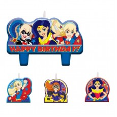 Super Hero Girls Party Supplies - Candles Mini Moulded
