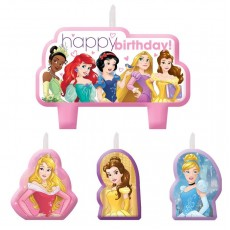 Disney Princess Dream Big Mini Moulded Candles Pack of 4