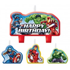 Avengers Epic Mini Candles Pack of 4