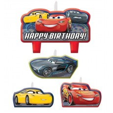 Disney Cars 3 Candles Pack of 4