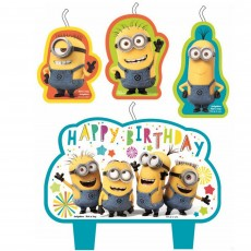 Minions Despicable Me Mini Moulded Candles Pack of 4