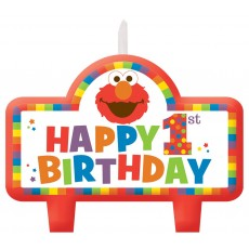 Elmo Turns One Birthday Set of Candles Pack of 4