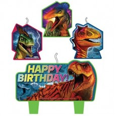 Jurassic World Mini Moulded Happy Birthday Candles Pack of 4