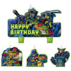 Rise of the Teenage Mutant Ninja Turtles Candles Pack of 4