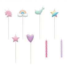 Magical Rainbow Party Supplies - Candles