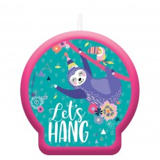 Sloth Let's Hang Candle 6cm