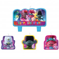 Trolls World Tour Set of Candles Pack of 4