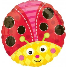 Misc Occasion Standard HX Cute Lady Bug Foil Balloon