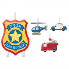 First Responders Party Supplies - Candles Mini Moulded