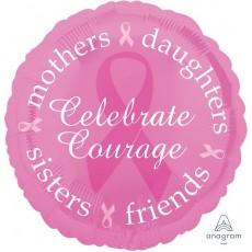 Pink Ribbon Day Standard HX Breast Cancer Awareness Foil Balloon