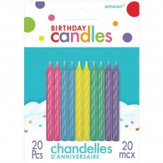 Pastel Party Spiral Candles